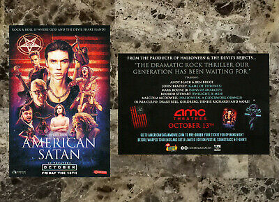 AMERICAN SATAN 2017 Ltd Ed New RARE Movie Sticker +FREE Metal Rock Punk Stickers