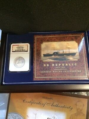 1861 O W-07 Seated Liberty Half Dollar S.s. Republic Shipwreck Ngc Complete