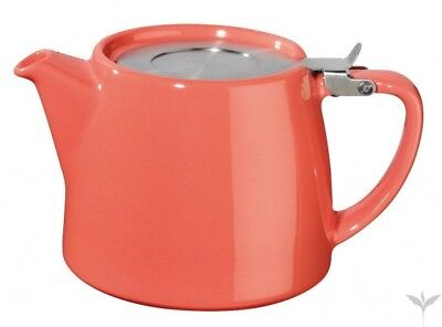 Coral For Life Teapot & Infuser, Bamboo Tray & Creamer -Option To Add Suki Tea