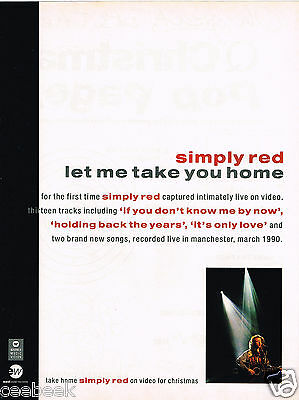 Simply Red - Let Me Take You Home Original Magazine Music Ad Advert 1990