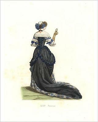 """10""""x8"""" (25x20cm) Print of Woman in town costume, 17th century, from a"""