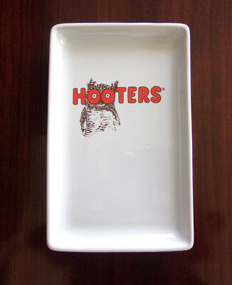 """HOOTERS GLASS SERVING DISH/PLATE  9 """"X 5 1/2  Rectangle DISH WASHER /MICRO SAFE"""