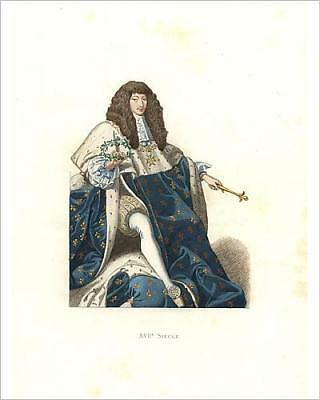 """10""""x8"""" (25x20cm) Print Young Louis XIV, King of France, 17th century"""