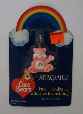 Care Bears Cheer Bear Vintage 1984 New In Package American Greetings Keychain
