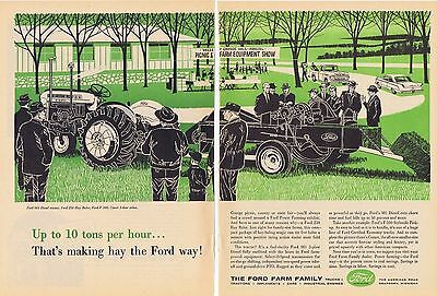 1960 Advertisement - FORD FARM FAMILY - 981 DIESEL TRACTOR, 250 HAY BALER, etc.