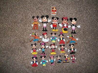 Lot of 22 Disney Mickey Minnie Mouse Goofy Figurine Toys - FREE SHIPPING !!