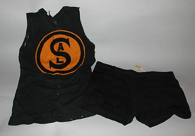 Antique Vintage 1920's SAL basketball uniform jersey & shorts by Schmelzers