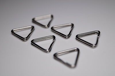 6 Pieces Camera Strap Triangle Rings Replacement Stainless Steel Split Ring Hook