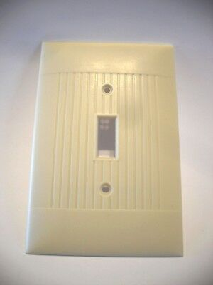 Vintage Large Ivory Light SWITCH Wall Cover Plate RIBBED Oversize Jumbo Sierra