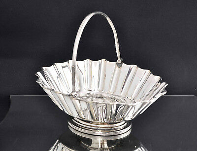 Antique Victorian Silver Plated Swing Handle BonBon Bowl Charles Favel Sheffield