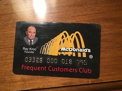 Vintage McDonalds Frequent Customers Club Card