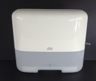 Tork Hand Towel Dispenser H3 With Key - White/Grey - Made in Germany