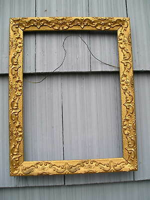 Nice Antique Aesthetic Eastlake Victorian Swirl Bronze~Gold Picture Frame 12~16