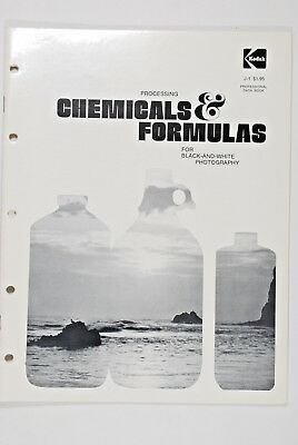 Kodak Processing Chemicals & Formulas for Black & White Photography J-1  53 Page