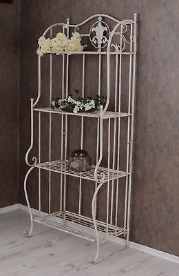 Metal Shelf White Bathroom Shelf Shabby Chic Iron Shelf Standing Shelf