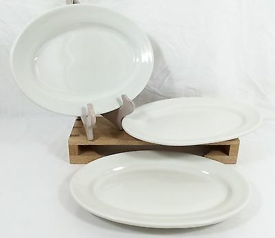 "3 Caribe China Puerto Rico USA 12"" Oval Serving Platters Restaurant Ware SET"