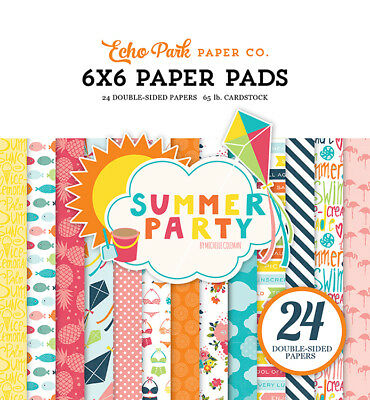 Echo Park Summer Party Collection 6 x 6 Paper Pad Scrapbook