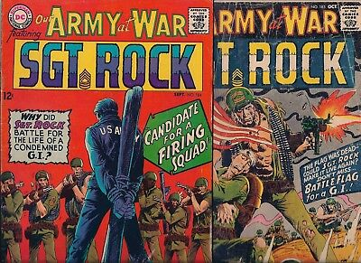 Dc Comics - Our Army At War - Featuring -Sgt. Rock -No.184 & 185 - Sept/oct 1967