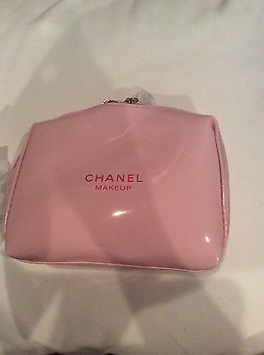 NIP USA Chanel Beauty MAKE UP PINK CUTE  Pouch Clutch cosmetics bag