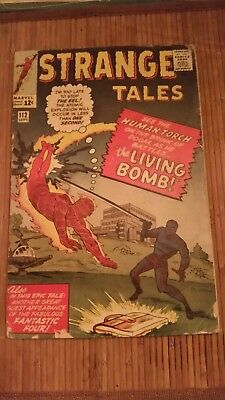 Marvel Comics Strange Tales 112  * 1 Book Lot * 1st & Origin Eel!!! Human Torch!