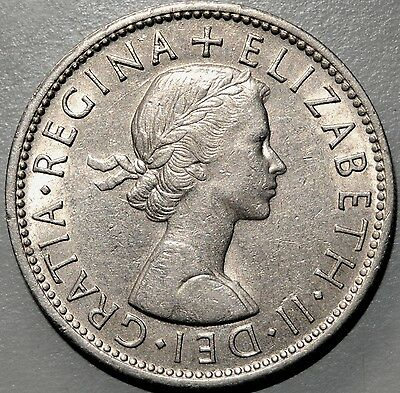 1962 Great Britain Elizabeth II Two Shillings Florin Coin #2