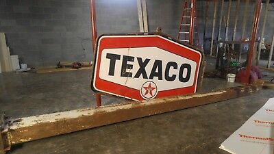 Complets Texaco Sign With Pole