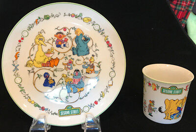GORHAM 1976 Sesame Street Muppets Childs Plate and Cup Fine China