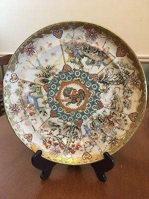 Antique Chinese Export Porcelain Plates Rose Medallion Famille Rose Canton
