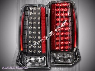 02-03 04-06 Cadillac Escalade Black Led Tail Lights 05