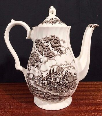 Antique Staffordshire MYOTT Royal Mail COFFEE CHOCOLATE POT Edwardian FLAWLESS