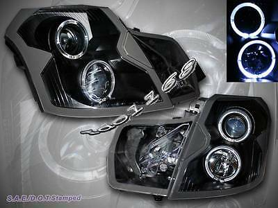 2003-2007 Cadillac Cts Ccfl Halo Black Projector Headlights