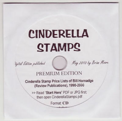 Cinderella Price Lists of Bill Hornadge, 11 years 1990-2000; 860 pages on CD