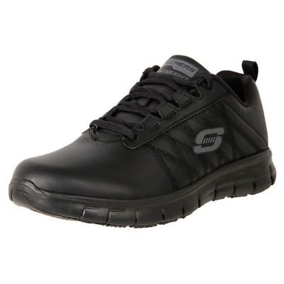New Skechers Women's Comfort Leather Relax Fit Anti Slip Work Shoes Earth Cheap