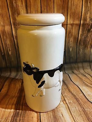 "Vintage Otagiri Cow Canisters/Cookie jar/Storage - Air Tight - 9.5"" Tall"