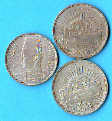 Egypt  1960  25 Piastres  And 1937 10  Piasteres ... 3 Silver Coin Lot