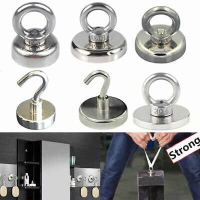 8 Style Salvage Strong Recovery Magnet Neodymium Eyebolt Circular Ring / Hook