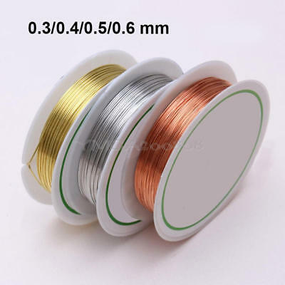 0.3/0.4/0.5/0.6mm Gold Silver-Plated Copper Wire Beads Jewelry Making DIY Craft