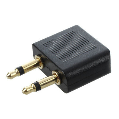 2 mm x 3,5 mm Aircraft Airline Travel Headphone Jack audio Adapter O7D3