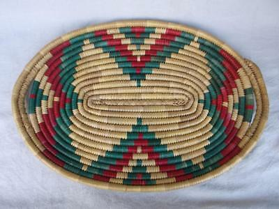 583 / Beautiful Vintage Hand Made Woven Native American Indian Shallow Tray