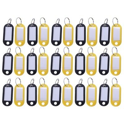 30 X Multi-Color Plastic Key Fobs Luggage ID Tags Labels Key Rings D4J4