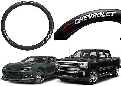 Genuine Leather Steering Wheel Cover With Chevrolet Logo New Free Shipping USA