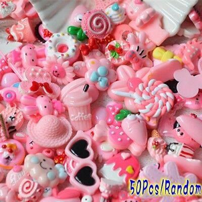 50Pcs Pink Blessing bag Squishy Charms Squeeze Slow Rising Toy Collection Gift