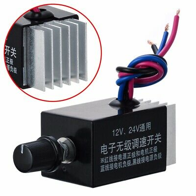 Motor Speed Controller Switch Truck Fan Heater Control Defroster DC 12V 24V DIY