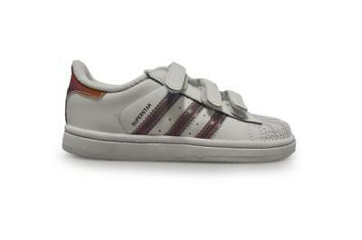 Infants Adidas Superstar CF I - S80265 - White Reflect Trainers