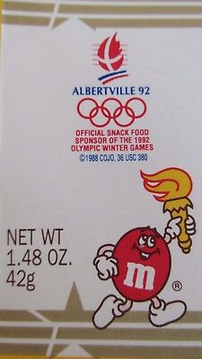 M&M's(R) Candy Box - Olympics 1992 - Not available in the USA - Peanut