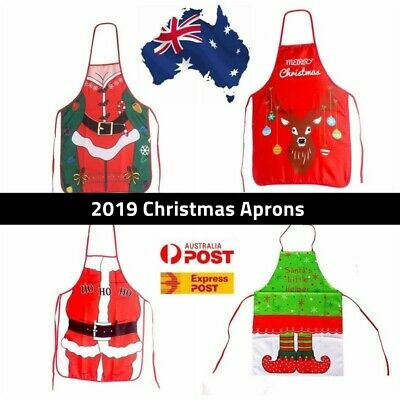 Xmas Apron Funny BBQ Christmas Gift Sexy Party Cooking Kitchen Santa Costume
