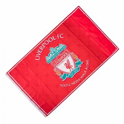 Liverpool FC LFC Red Liverbird 1892 Crest Flag NWT Official