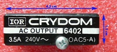 Solid State Relay (SSR) - Inp: 5VDC / Out: 240VAC (3.5A) - IOR Crydom 6402A