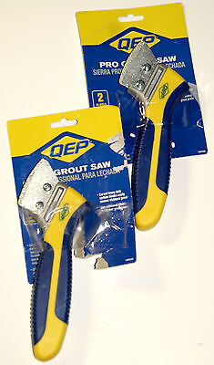 2x QEP Handheld Grout Saw Cleaning Stripping Grout Remover Tool Tile Blade New