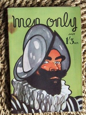 """""""Men Only"""" magazine 1944 July. Wartime Fun, Glamour, Fiction, Articles etc."""